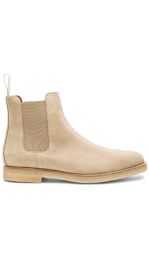 Common Projects Chelsea Suede Boot in Beige