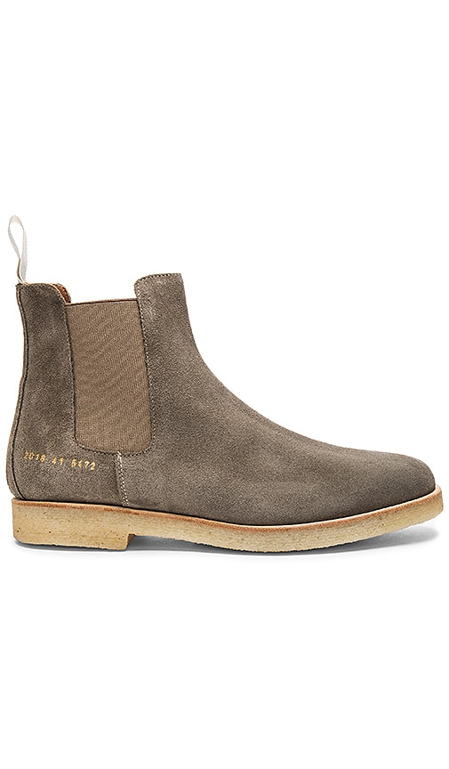 Common Projects Chelsea Suede Boot in Gray