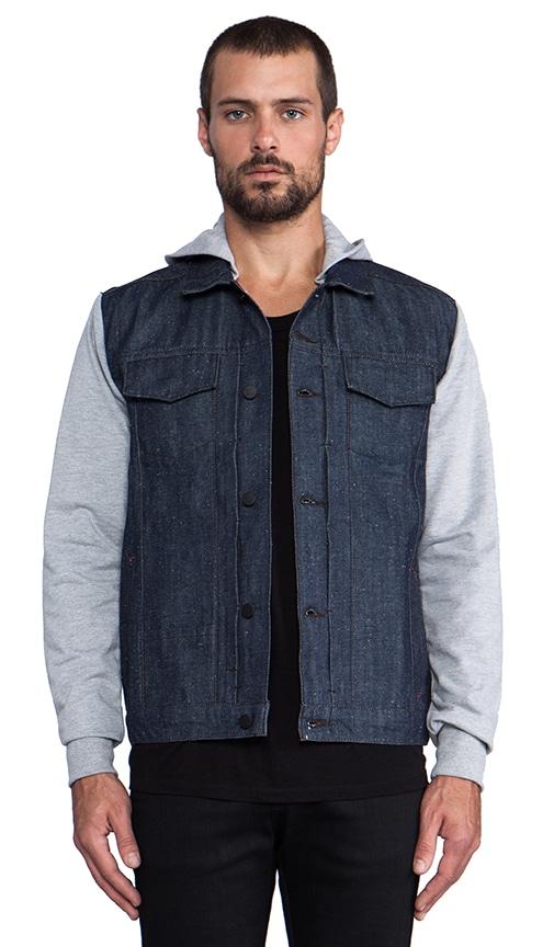 Jay Heather Grey Hoodie Denim Jacket