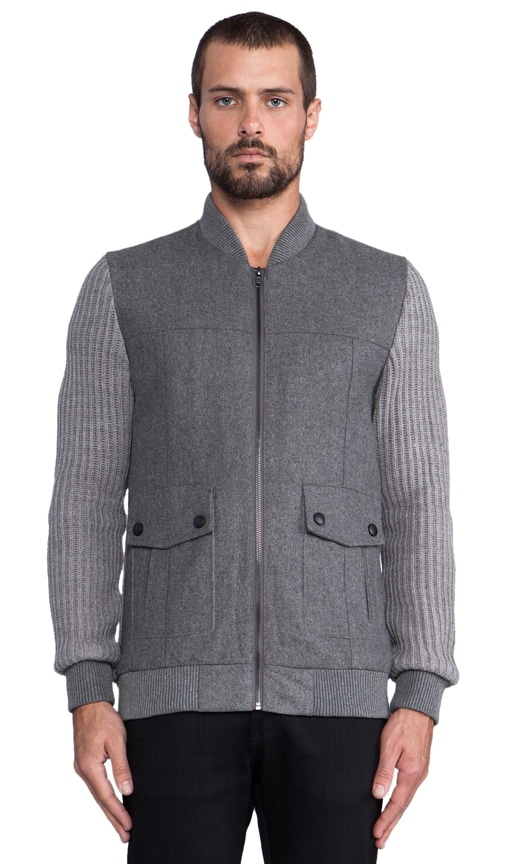 Goodwin Bomber Jacket with Knit Sleeves