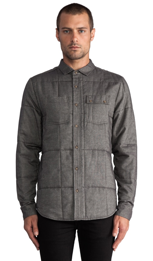 Arnold Quilted L/S Button Down Shirt Jacket