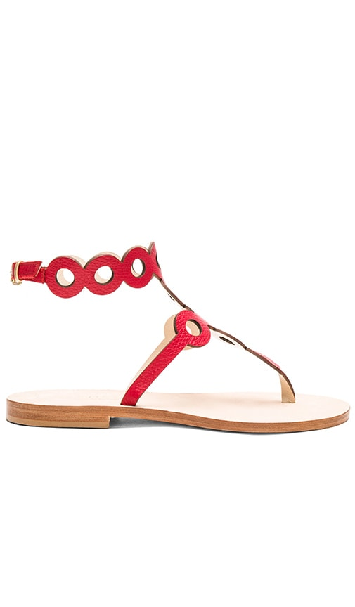 CoRNETTI Minori Sandal in Blood Orange Deerskin
