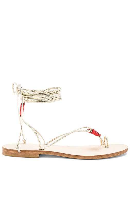 CoRNETTI Ventroso Sandal in Metallic Gold