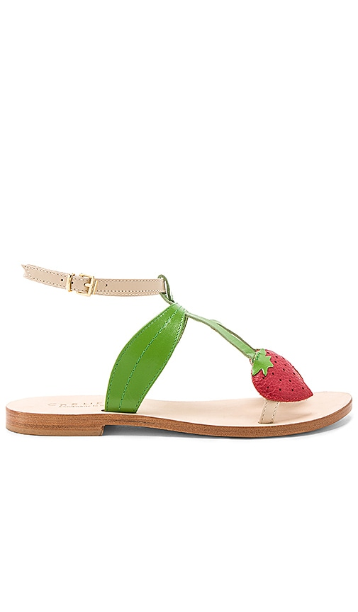 CoRNETTI Strawberry Sandal in Green