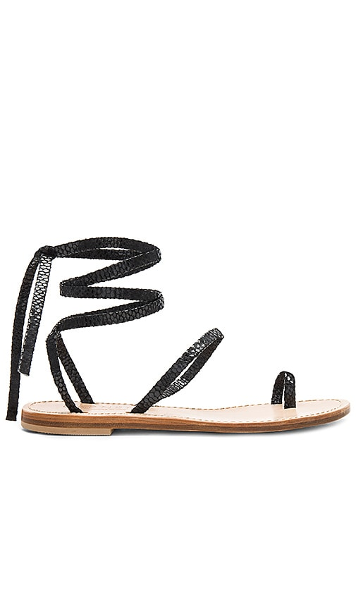 CoRNETTI Alicudi Sandal in Black