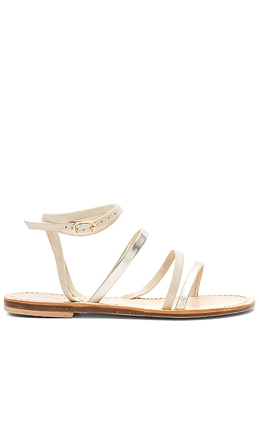 CoRNETTI Lipari Sandal in Metallic Gold