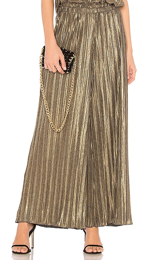 Cosabella Minimalista Wide Leg Pant in Metallic Gold