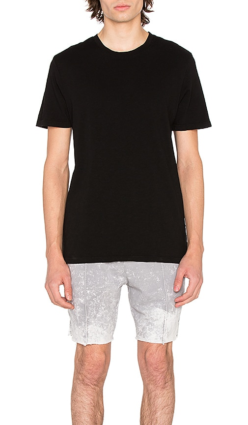 COTTON CITIZEN The Presley Japanese Slub Tee in Black