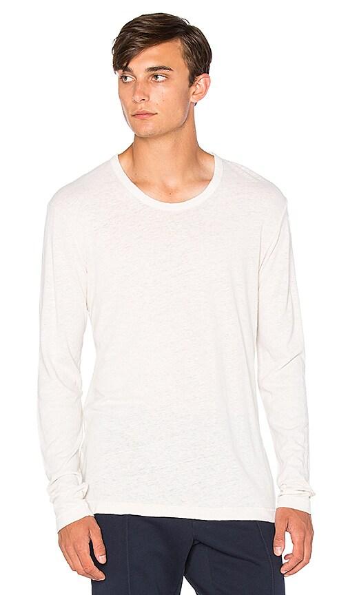 COTTON CITIZEN The Lennon Long Sleeve Tee in White