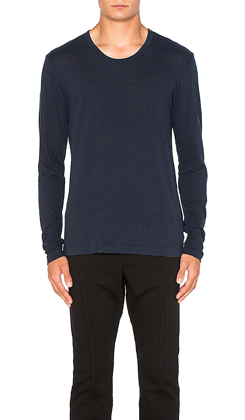 COTTON CITIZEN The Lennon Long Sleeve Tee in Blue