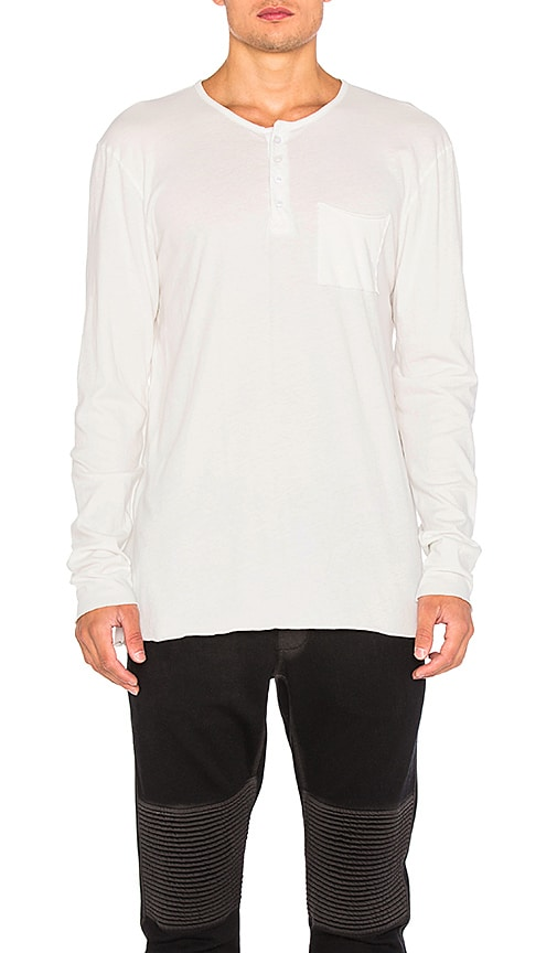 COTTON CITIZEN The Jagger Henley in White