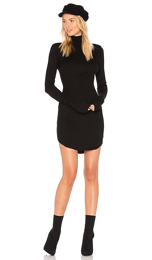 COTTON CITIZEN The Melbourne Turtleneck Mini Dress in Black