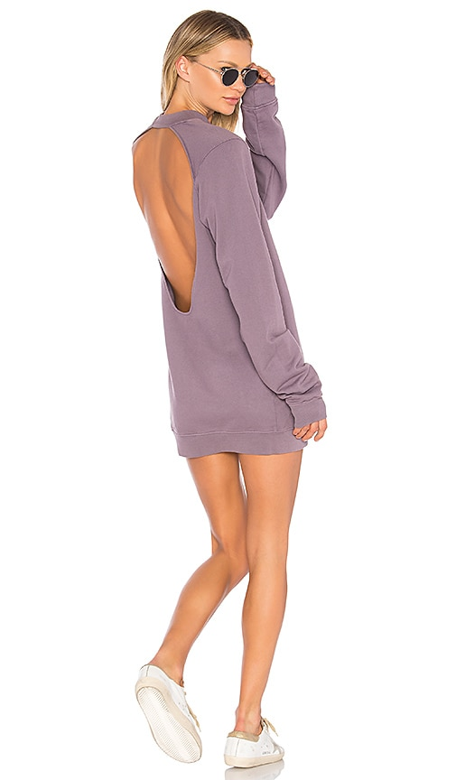 COTTON CITIZEN The Milan Backless Mini Dress in Purple