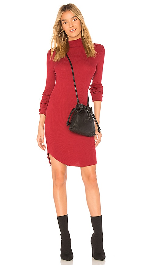 COTTON CITIZEN The Melbourne Turtleneck Dress in Red