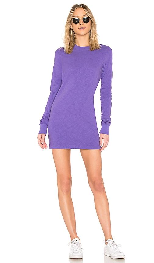 COTTON CITIZEN Tokyo Long Sleeve Mini Dress in Purple