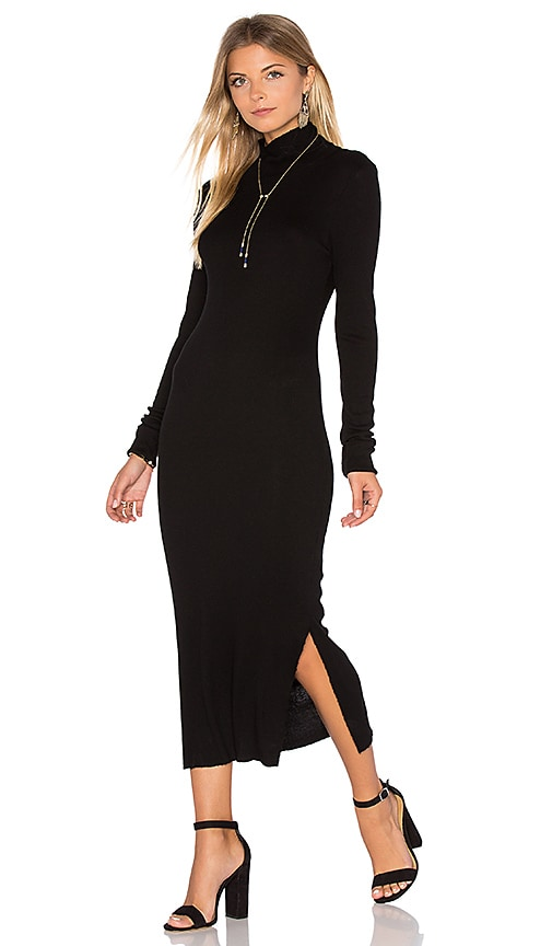 COTTON CITIZEN Melbourne Midi Dress in Black