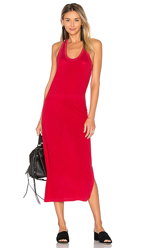 COTTON CITIZEN Mykonos Midi Dress in Red