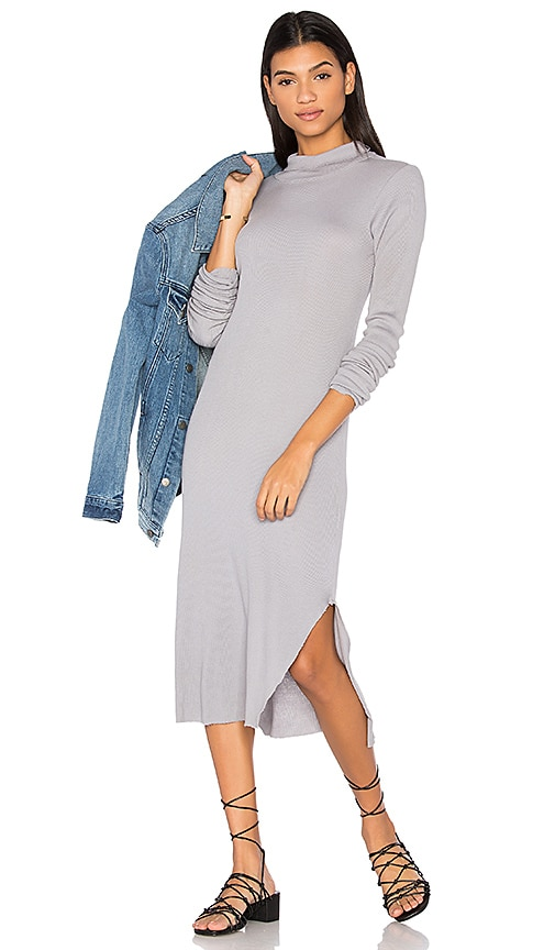 COTTON CITIZEN The Melbourne Midi Dress in Gray