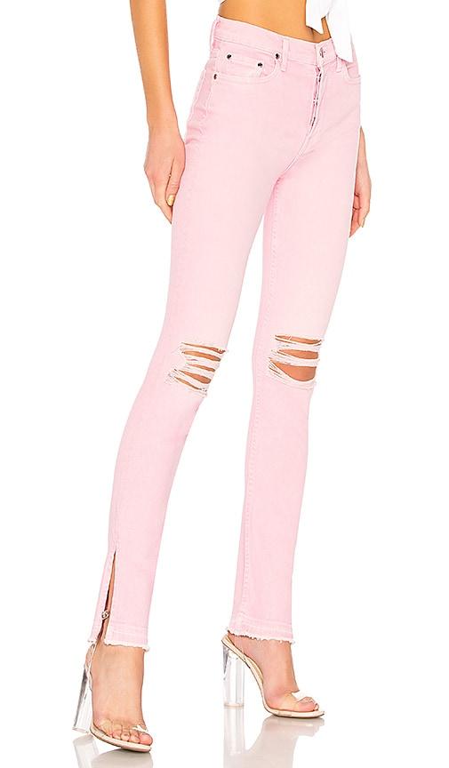 COTTON CITIZEN High Split Jean in Light Pink