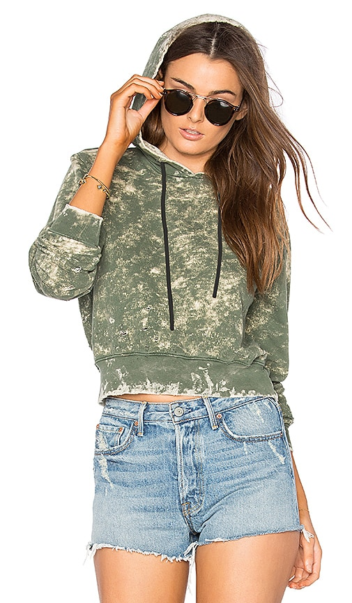 The Milan Cropped Pullover Hoodie