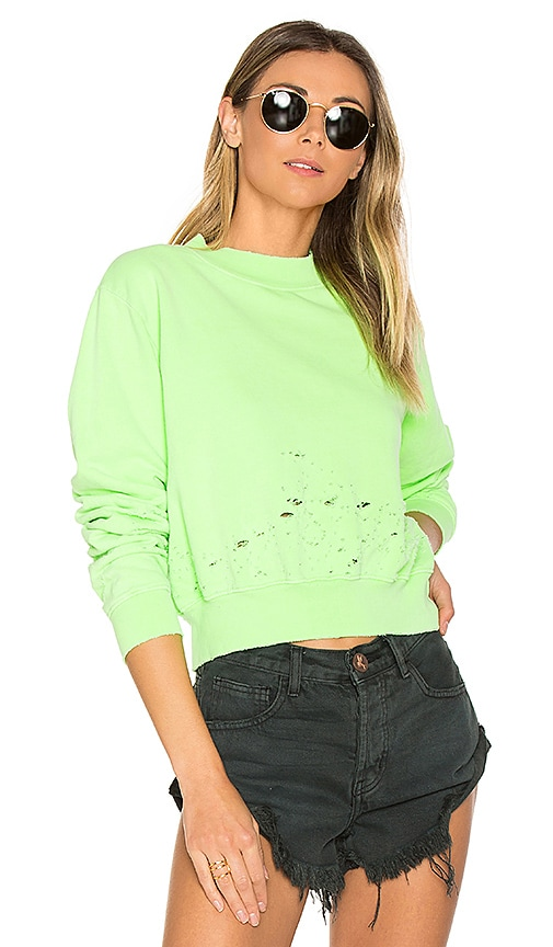 COTTON CITIZEN The Milan Cropped Sweatshirt in Green