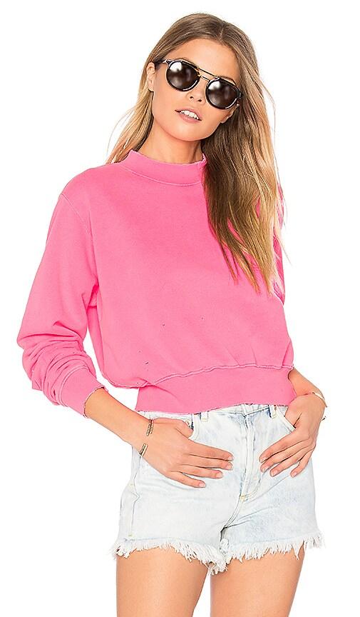COTTON CITIZEN The Milan Cropped Sweatshirt in Pink