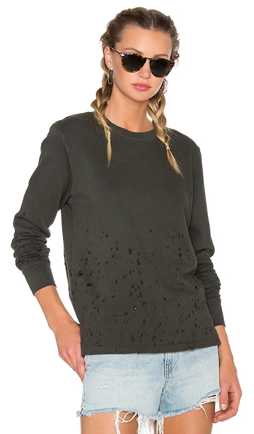COTTON CITIZEN Malibu Crewneck Sweatshirt in Army