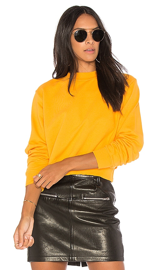 COTTON CITIZEN The Milan Cropped Sweatshirt in Yellow