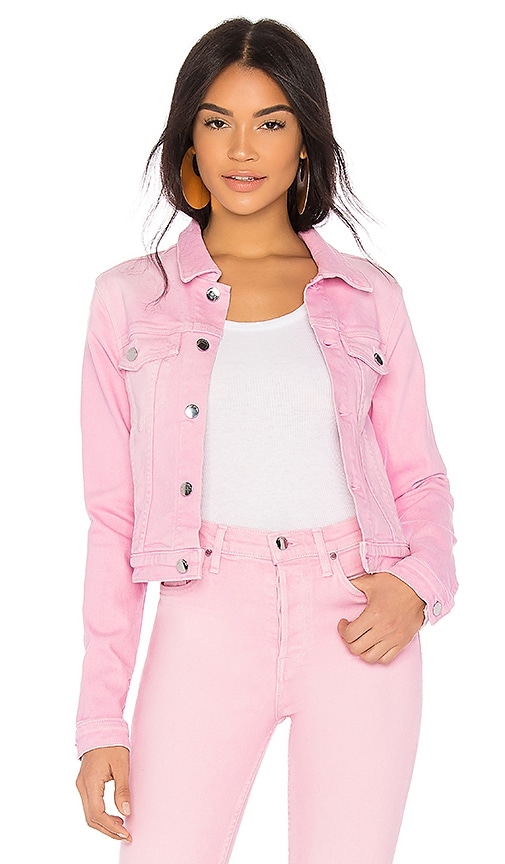 COTTON CITIZEN Crop Denim Jacket in Light Pink