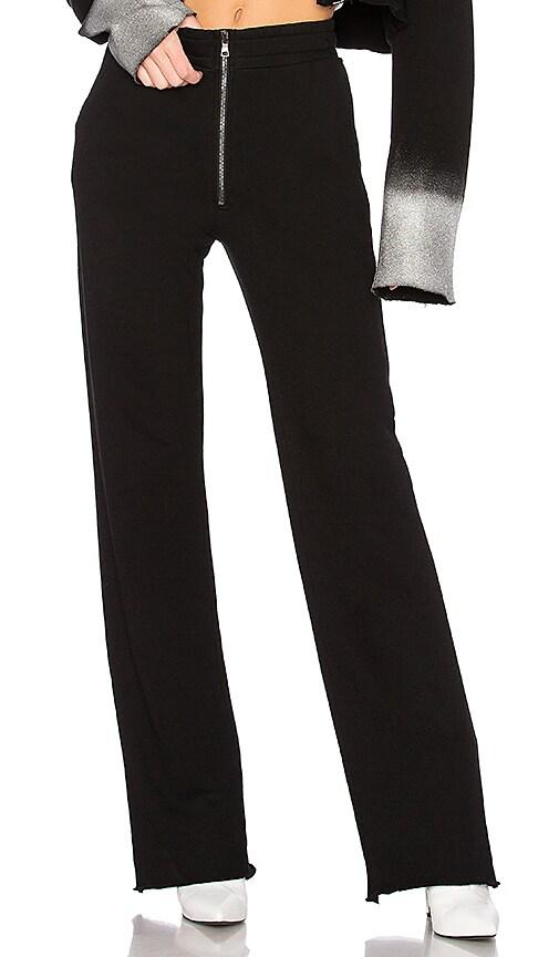 COTTON CITIZEN The Manhattan High Waisted Trouser in Black