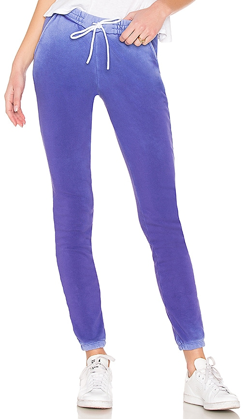 COTTON CITIZEN Aspen Elastic Bottom Sweats in Purple