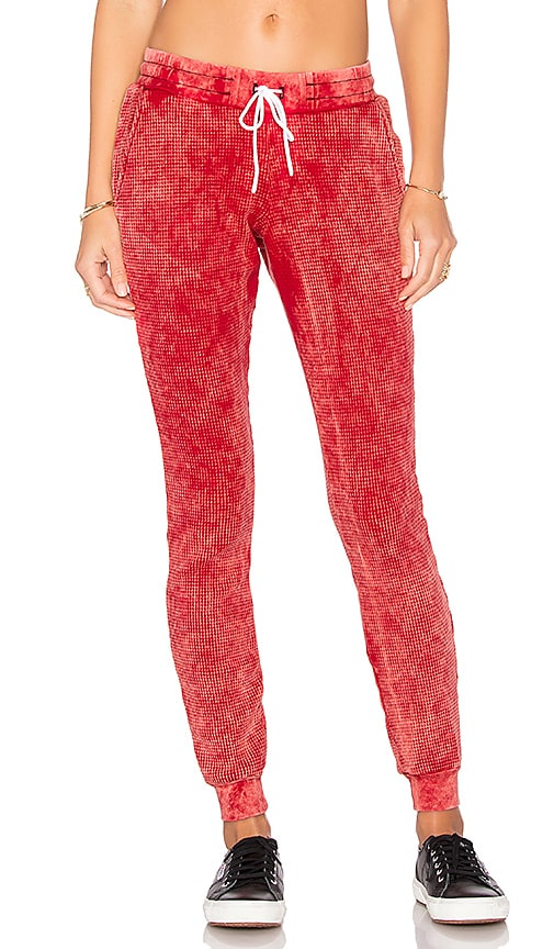 COTTON CITIZEN The Monaco Thermal Jogger in Red