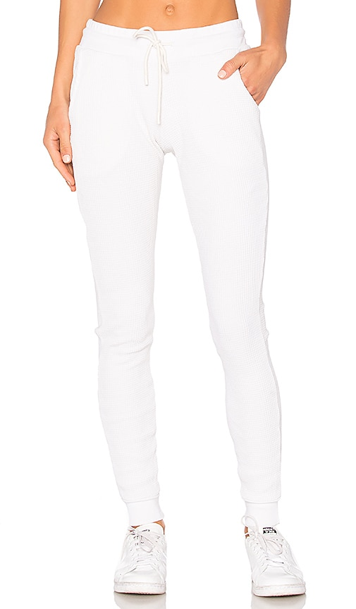 COTTON CITIZEN The Monaco Thermal Jogger in White