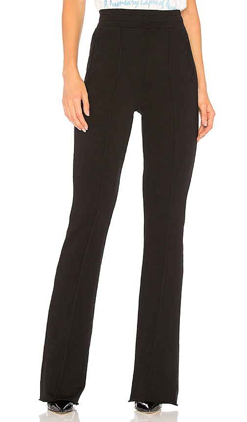 COTTON CITIZEN The Milan High Waisted Trouser in Black