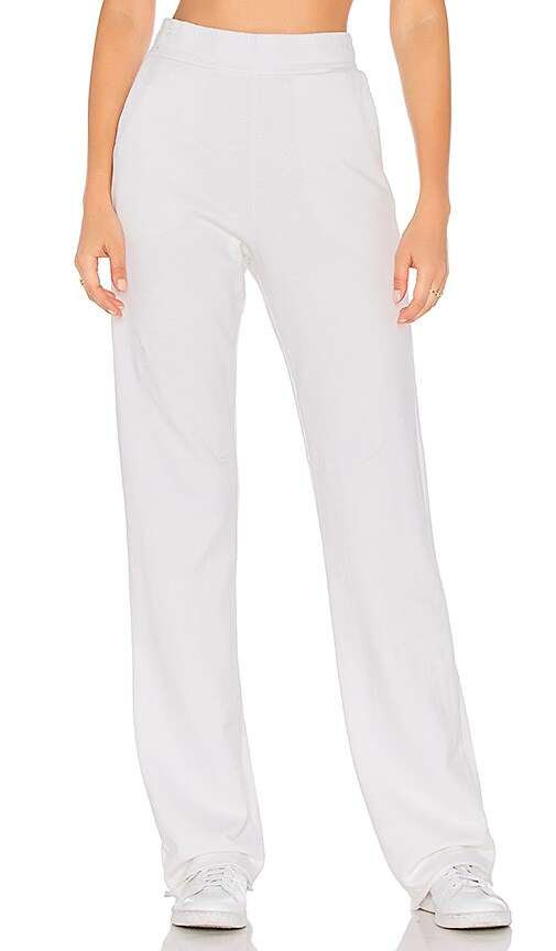COTTON CITIZEN The Milan High Waisted Trouser in White