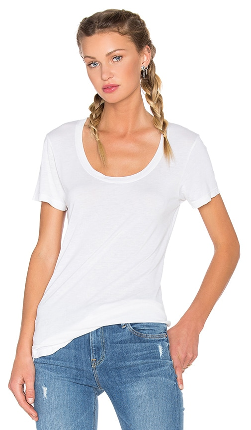 COTTON CITIZEN Mykonos Scoop Neck Tee in Ivory