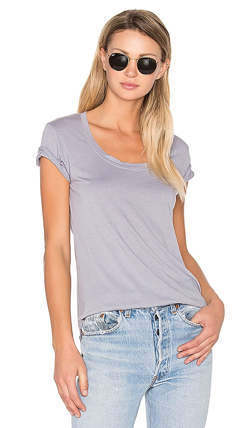 COTTON CITIZEN The Mykonos Scoop Tee in Gray