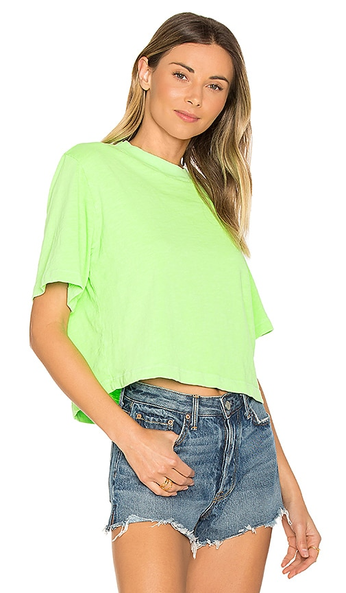 COTTON CITIZEN The Tokyo Crop Tee in Green