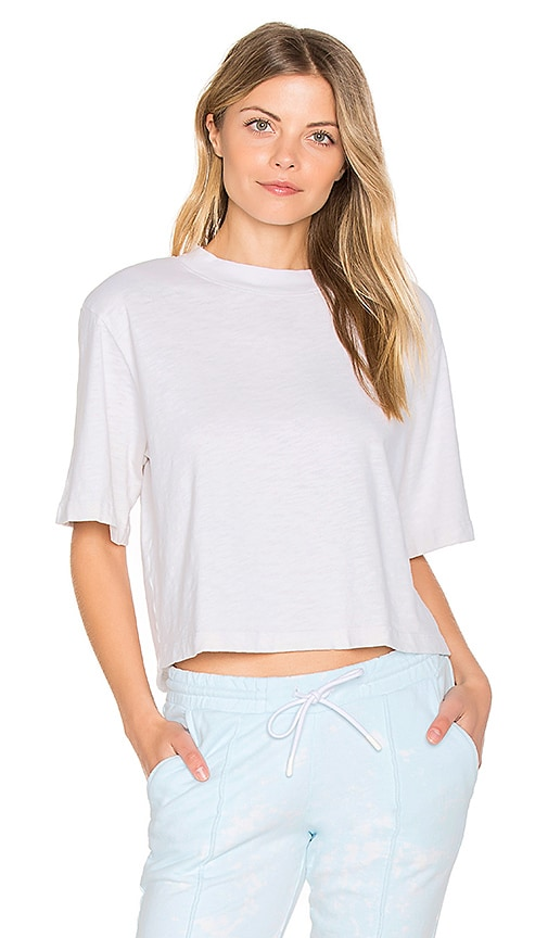 COTTON CITIZEN The Tokyo Crop Tee in Ivory