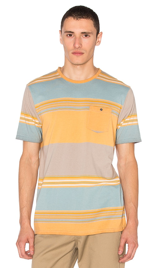 Captain Fin Beach Stripe Tee in Orange