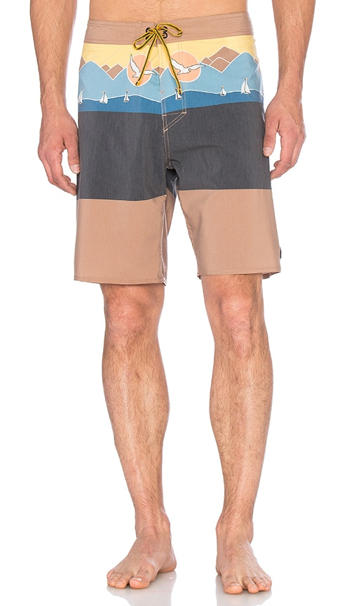 Captain Fin Sailing Boardshorts in Tan