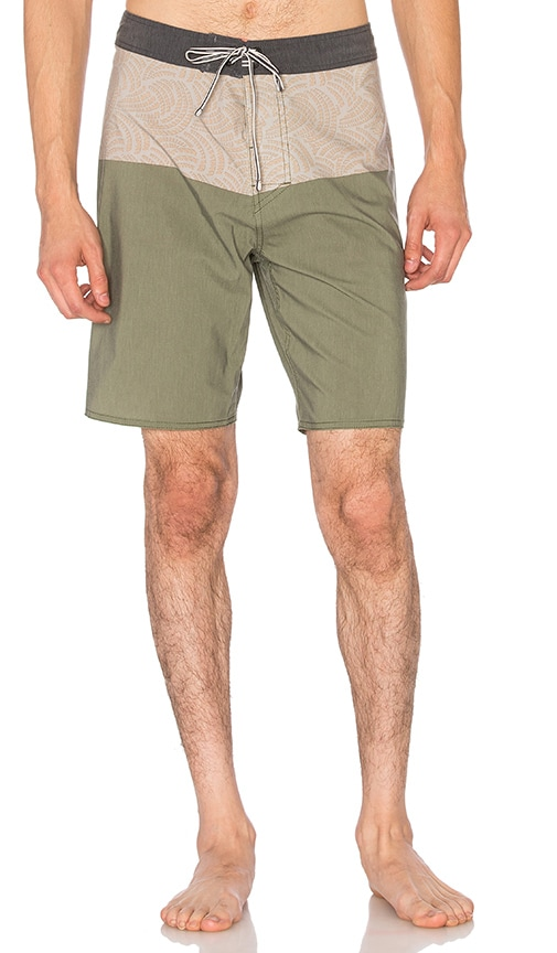 Captain Fin Twisted Boardshort in Olive