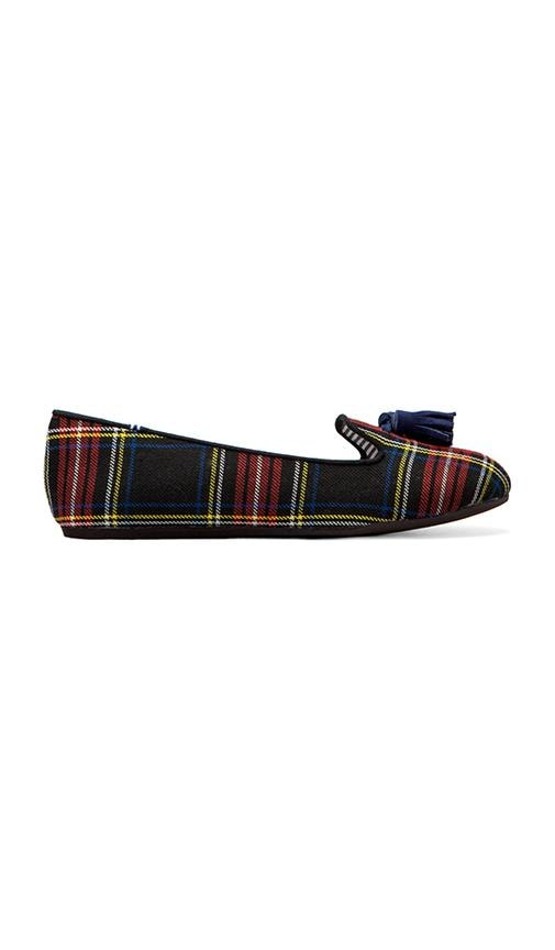 Lana Wool Plaid Flat with Tassel