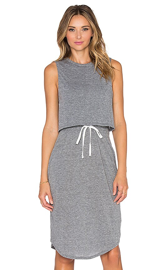 Craft & Commerce Double Layer Dress in Grey