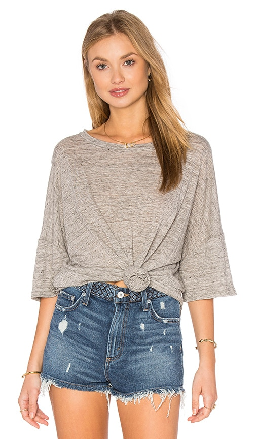 Craft & Commerce Oversize Boxy Tee in Heather Grey