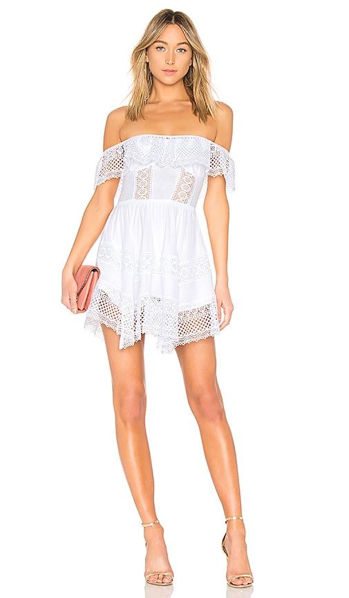 Charo Ruiz Vaiana Dress in White