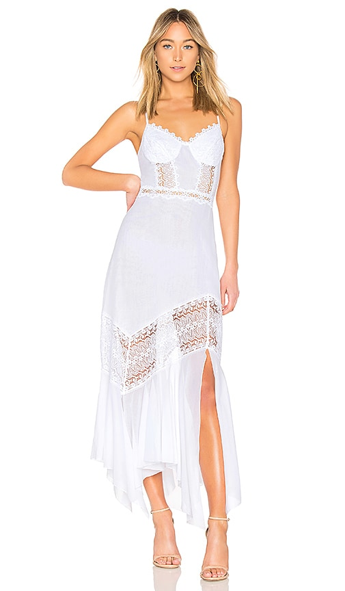 Charo Ruiz Briana Dress in White