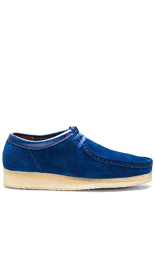 Clarks x Stussy Wallabee Low in Blue