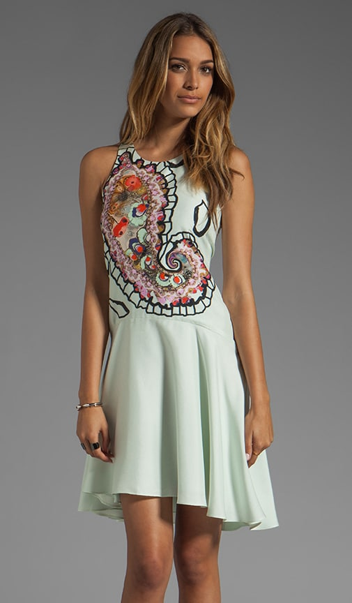 Magnified Paisley Halter Dress