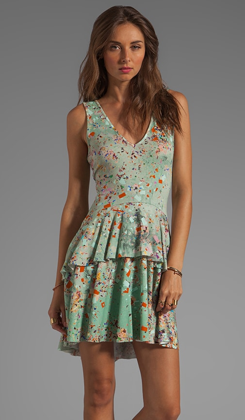 Printed Jersey V-Neck Floral Dress